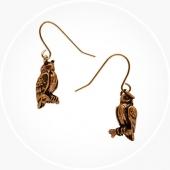 Oorbellen Bronze Owl